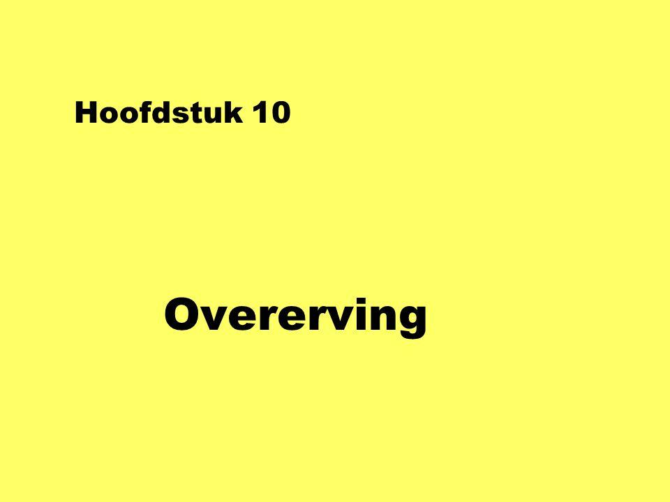 Hoofdstuk 10 Overerving
