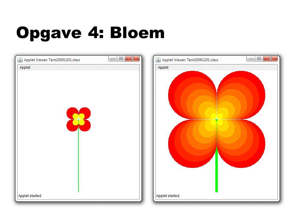 Opgave 4: Bloem