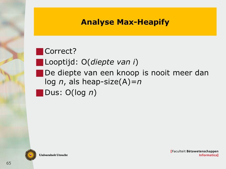 65 Analyse Max-Heapify  Correct.