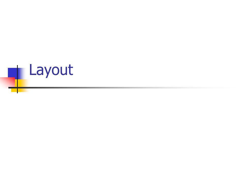 7/36 Combinator-taal voor type Layout Bouwstenen: Om te combineren: Layout combinators row :: Int -> [Layout] -> Layout column :: Int -> [Layout] -> Layout grid :: Int -> Int -> [[Layout]] -> Layout label :: String -> Layout space :: Int -> Int -> Layout rule :: Int -> Int -> Layout widget :: Widget w => w -> Layout main = start $ do { f <- frame []...
