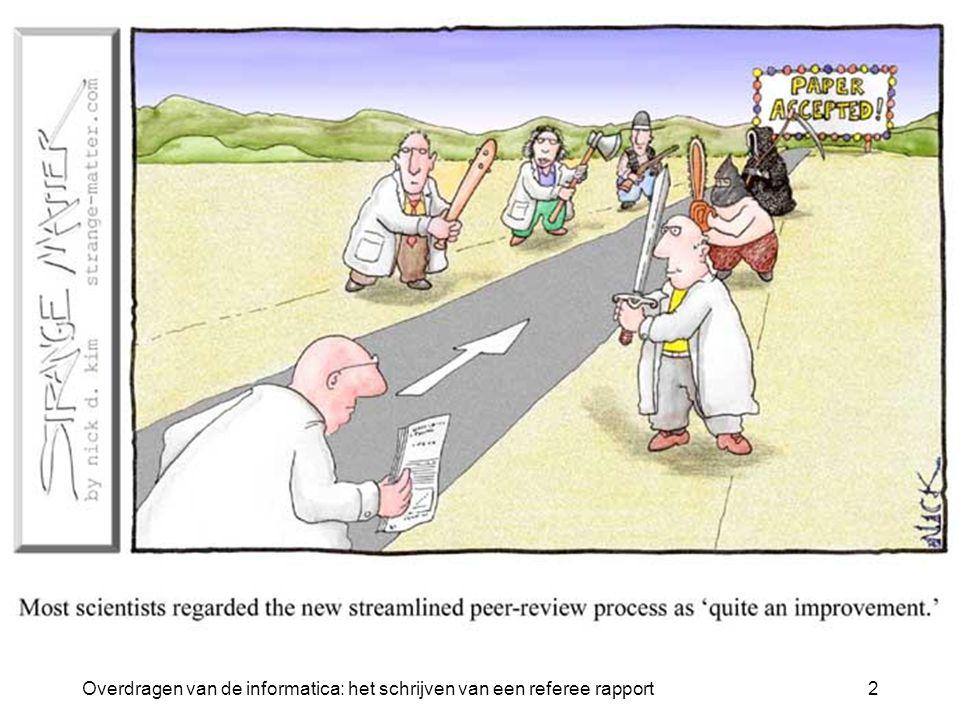 Overdragen van de informatica: het schrijven van een referee rapport2