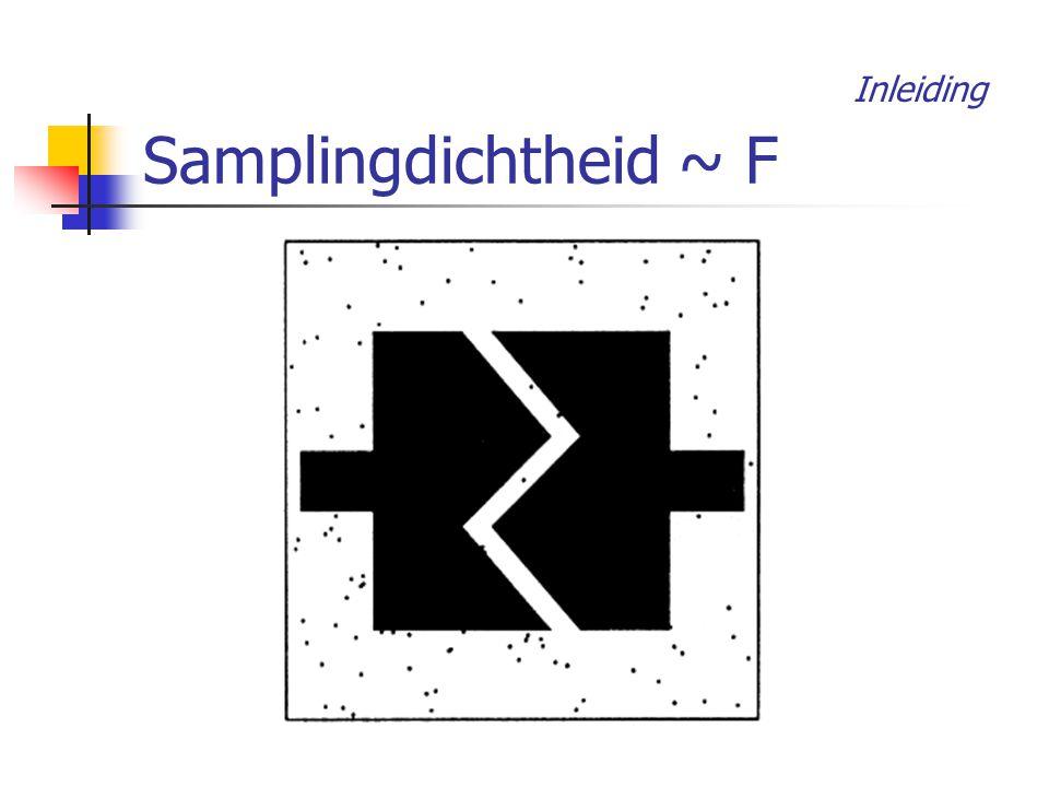 Samplingdichtheid ~ F Inleiding