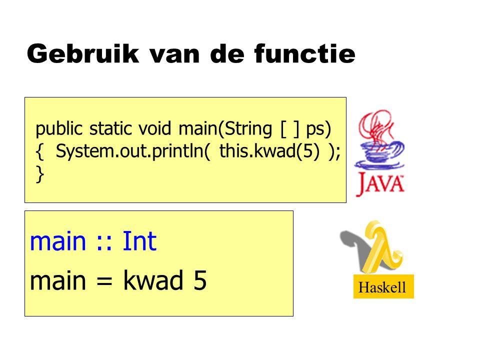 Publieksvraag nSchrijf een functie die getallen van een lijst oplevert die kleiner zijn dan 10 kleintjes kleintjes :: [Int]  [Int] kleintjes xs = filter (<10) xs ook partieel geparametriseerd!