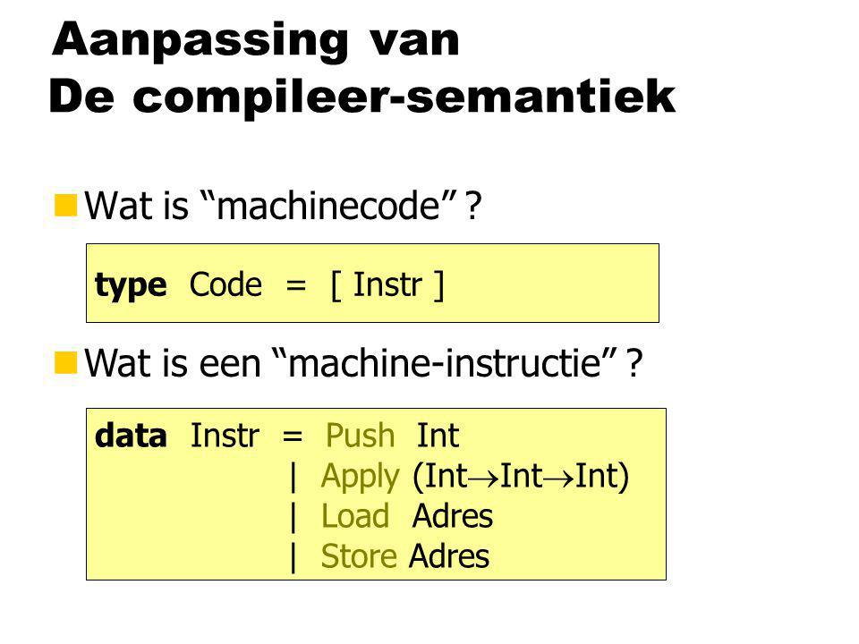 De compileer-semantiek nWat is machinecode . nWat is een machine-instructie .