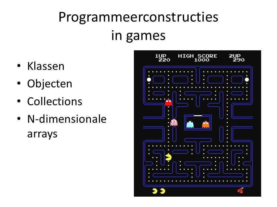 JewelJamGameWorld class JewelJamGameWorld : GameObjectList { public JewelJamGameWorld() { this.Add(new SpriteGameObject( spr_background )); GameObjectList playingField = new GameObjectList(1); playingField.Position = new Vector2(85, 150); this.Add(playingField); JewelGrid grid = new JewelGrid(10, 5, 60, 0); playingField.Add(grid); playingField.Add(new RowSelectGameObject(grid, 1)); } } Subklasse van GameObjectList