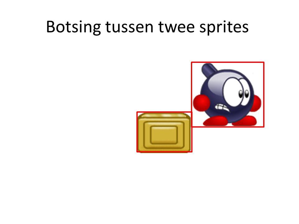 Botsing tussen twee sprites