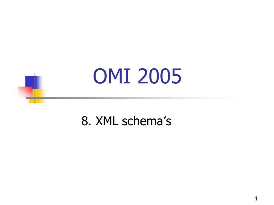 1 OMI 2005 8. XML schema's