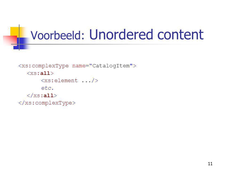 11 Voorbeeld: Unordered content etc.