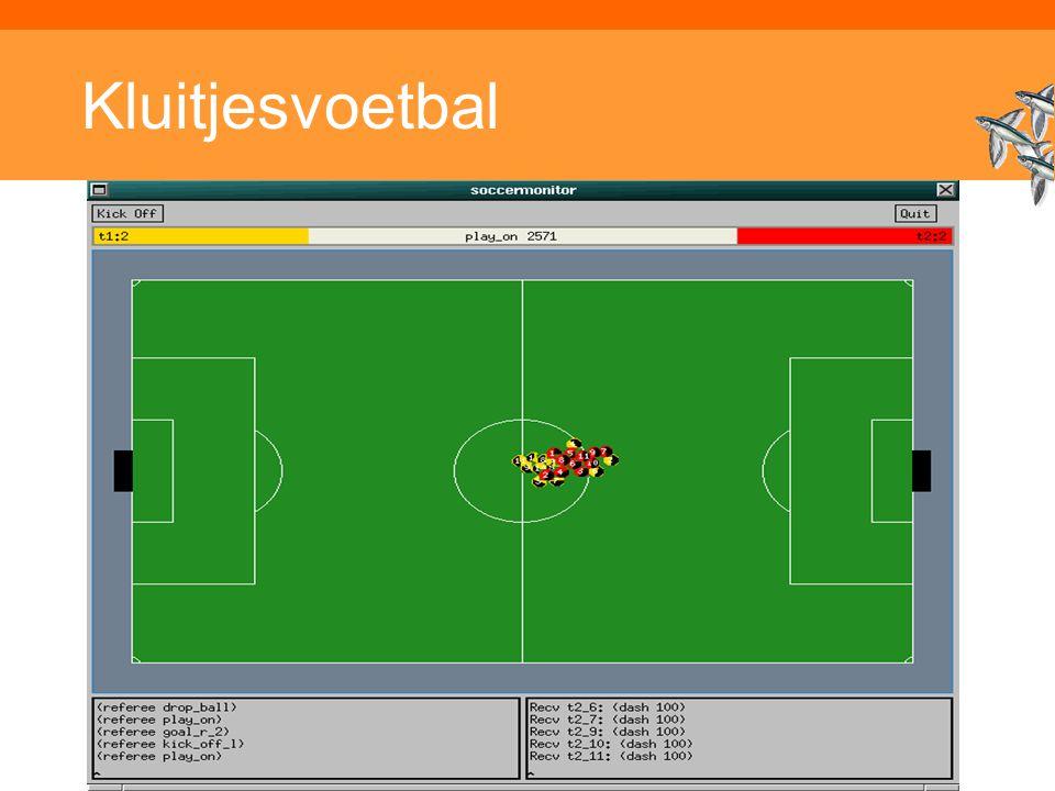 Inleiding Adaptieve Systemen, Opleiding CKI, Utrecht. Auteur: Gerard Vreeswijk Kluitjesvoetbal