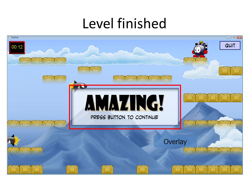 Level finished Overlay