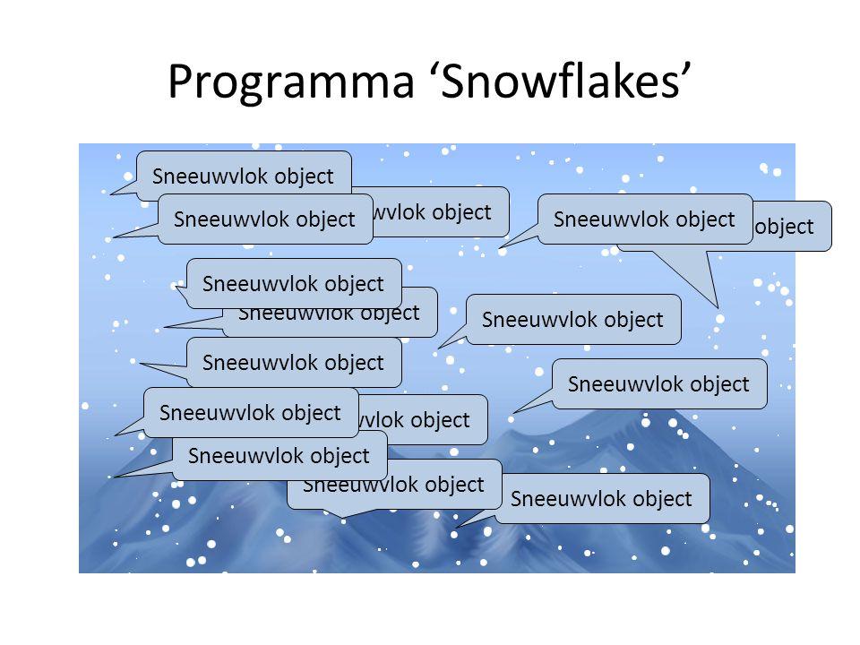 Programma 'Snowflakes' Sneeuwvlok object