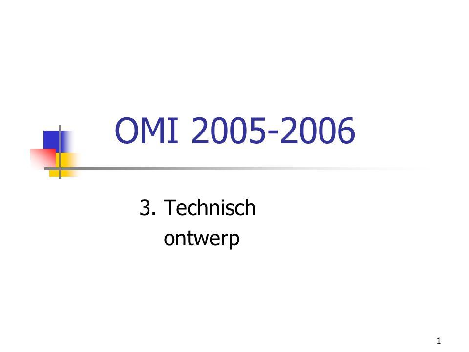 1 OMI 2005-2006 3. Technisch ontwerp