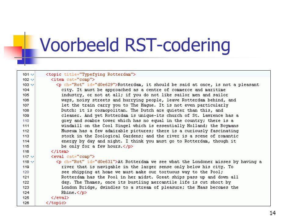 14 Voorbeeld RST-codering