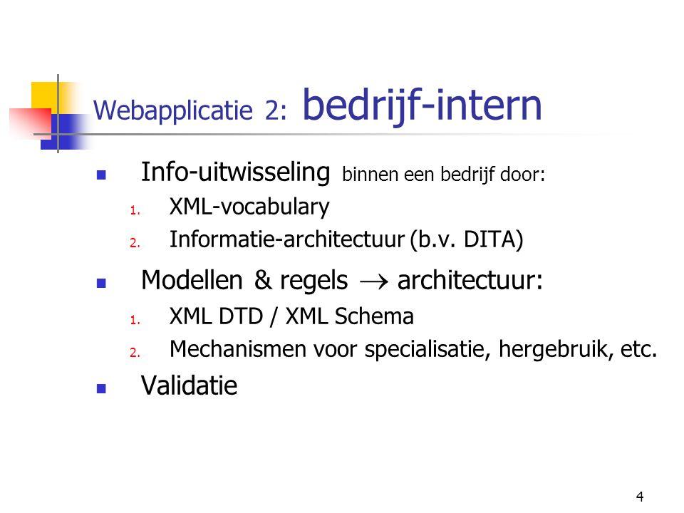 4 Webapplicatie 2: bedrijf-intern Info-uitwisseling binnen een bedrijf door: 1.