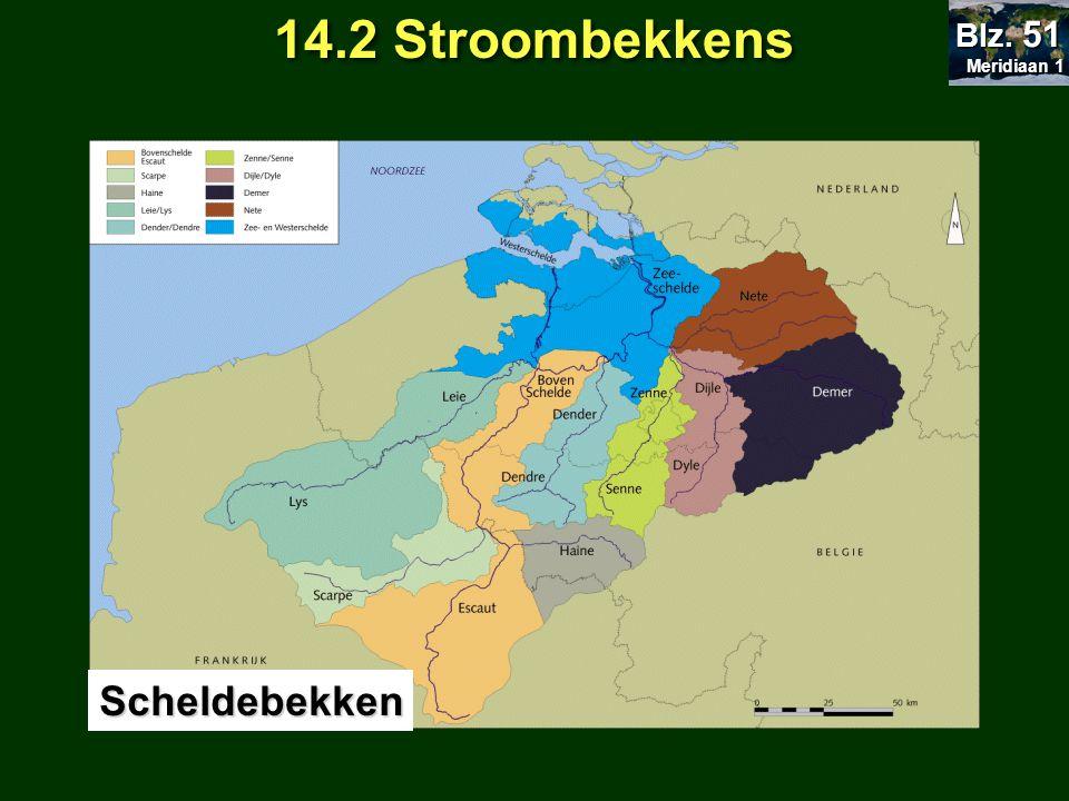 14.2 Stroombekkens Scheldebekken Meridiaan 1 Meridiaan 1 Blz. 51