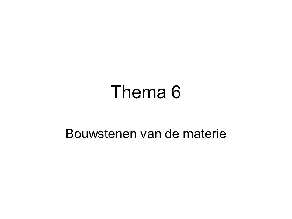 Thema 6 Bouwstenen van de materie