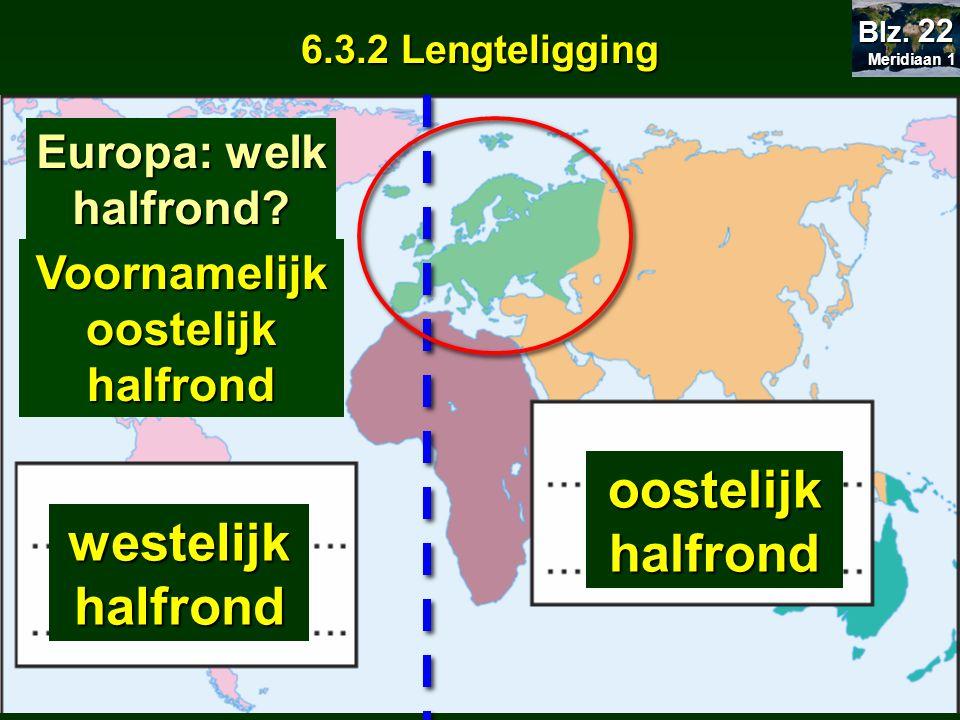 Lengtelijnen of meridianen - zijn allemaal even lang -lopen niet evenwijdig* - raken elkaar in de ………………………….……….