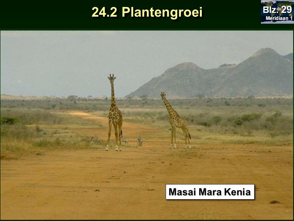 Masai Mara Kenia 24.2 Plantengroei Meridiaan 1 Meridiaan 1 Blz. 29