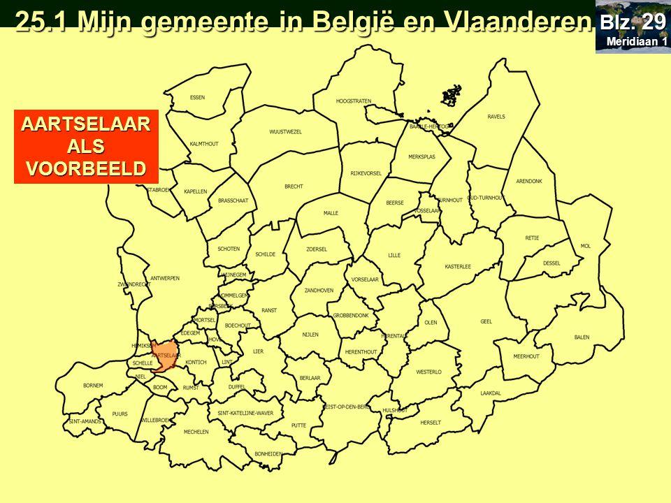 Ligging binnen Vlaanderen O Centraal O Aan de rand O Centraal O Aan de rand Ligging binnen Vlaanderen O Centraal O Aan de rand O Centraal O Aan de rand Meridiaan 1 Meridiaan 1 Blz.