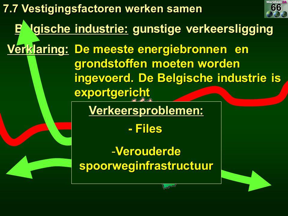 Belgische industrie: gunstige verkeersligging De meeste energiebronnen en grondstoffen moeten worden ingevoerd. De Belgische industrie is exportgerich