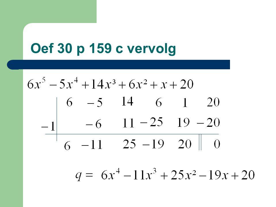Oef 30 p 159 c vervolg