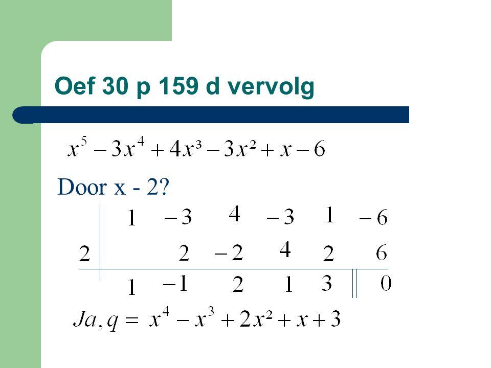 Oef 30 p 159 d vervolg Door x - 2