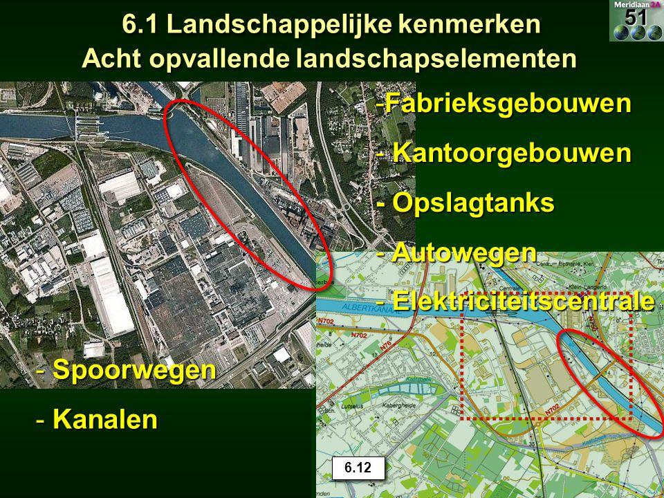 6.1 Landschappelijke kenmerken Acht opvallende landschapselementen 15.7 -Fabrieksgebouwen - Kantoorgebouwen - Opslagtanks - Autowegen - Elektriciteits