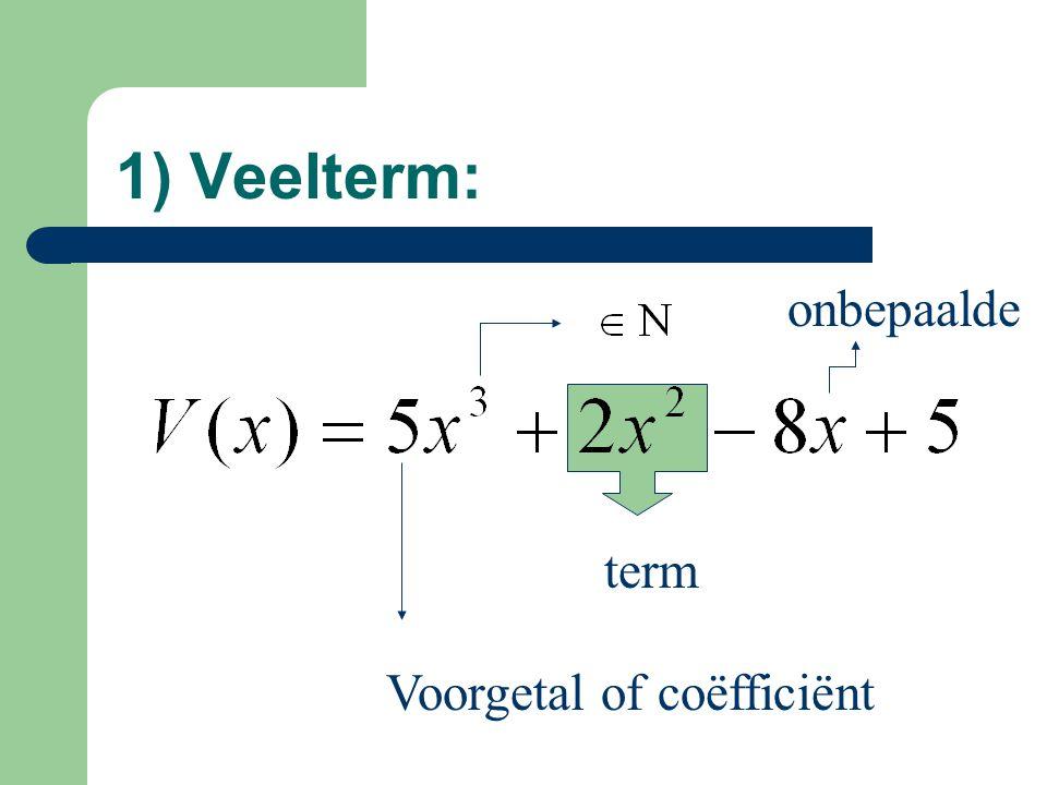 Voorgetal of coëfficiënt term onbepaalde