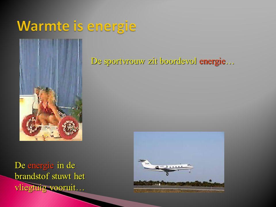 De sportvrouw zit boordevol energie… De energie in de brandstof stuwt het vliegtuig vooruit…