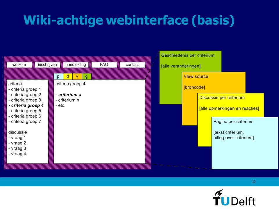 32 Wiki-achtige webinterface (basis)