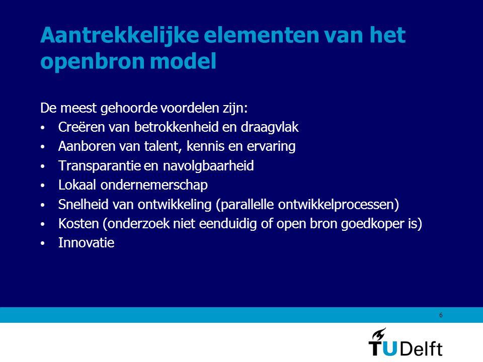 7 Wat is het openbron model.