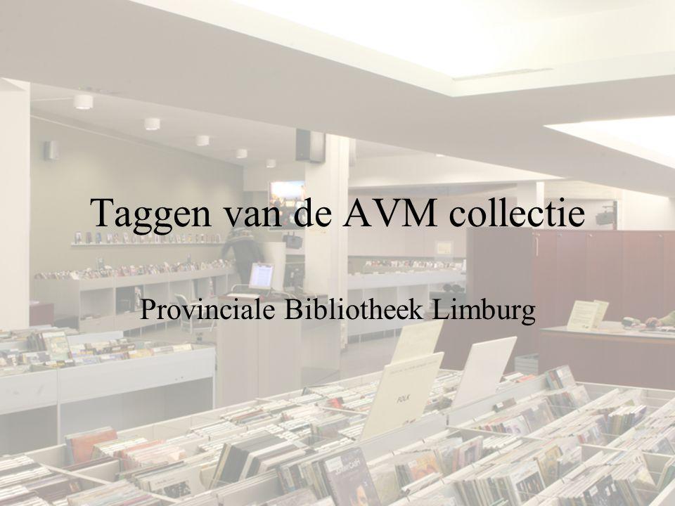 Taggen van de AVM collectie Provinciale Bibliotheek Limburg