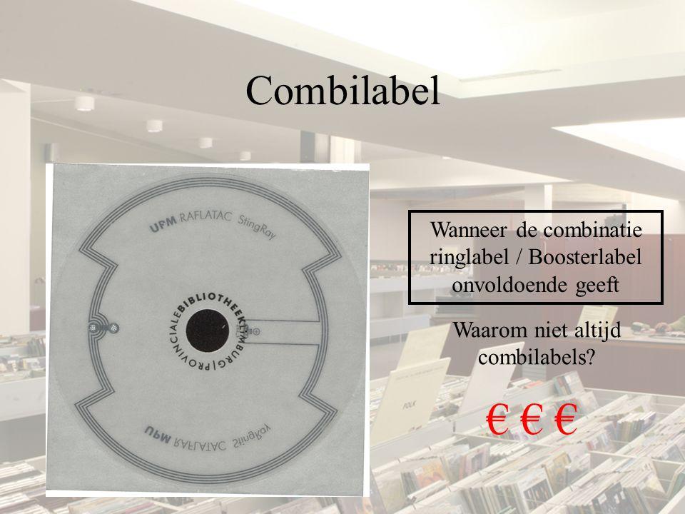 Combilabel Wanneer de combinatie ringlabel / Boosterlabel onvoldoende geeft Waarom niet altijd combilabels? € € €
