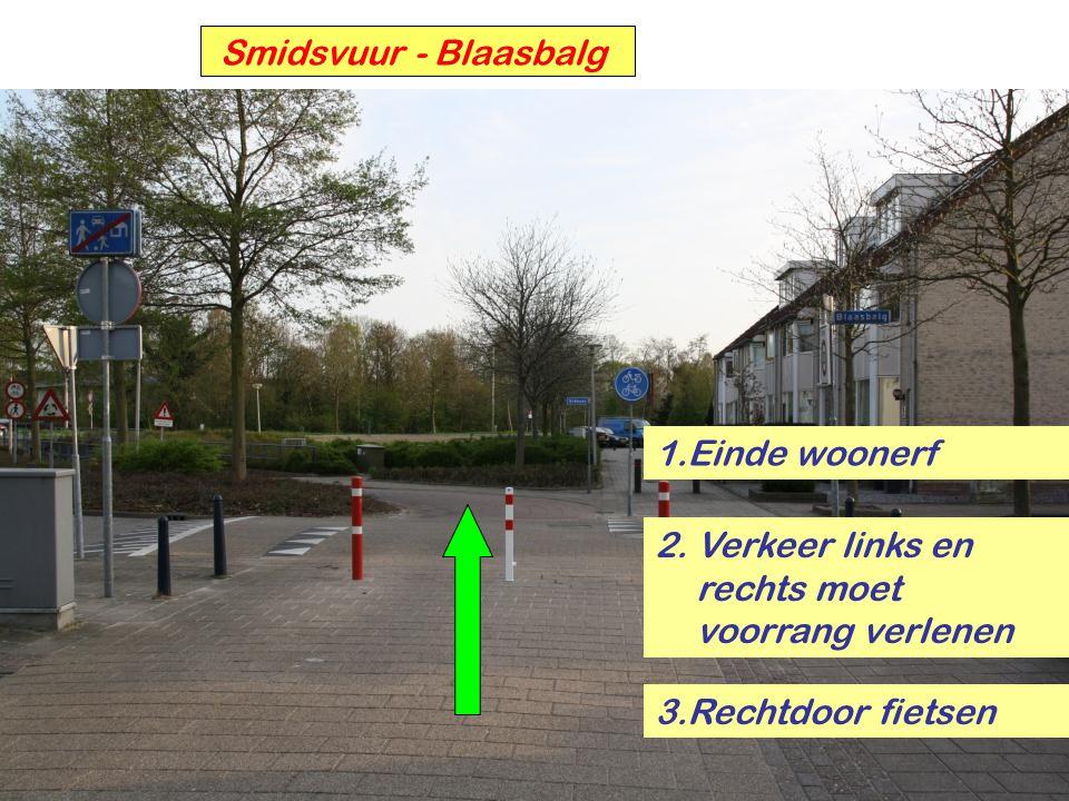 Kennedylaan - Weissenbruchlaan 1. Over schouder kijken 2.Links – rechts kijken 3.Fietspad op