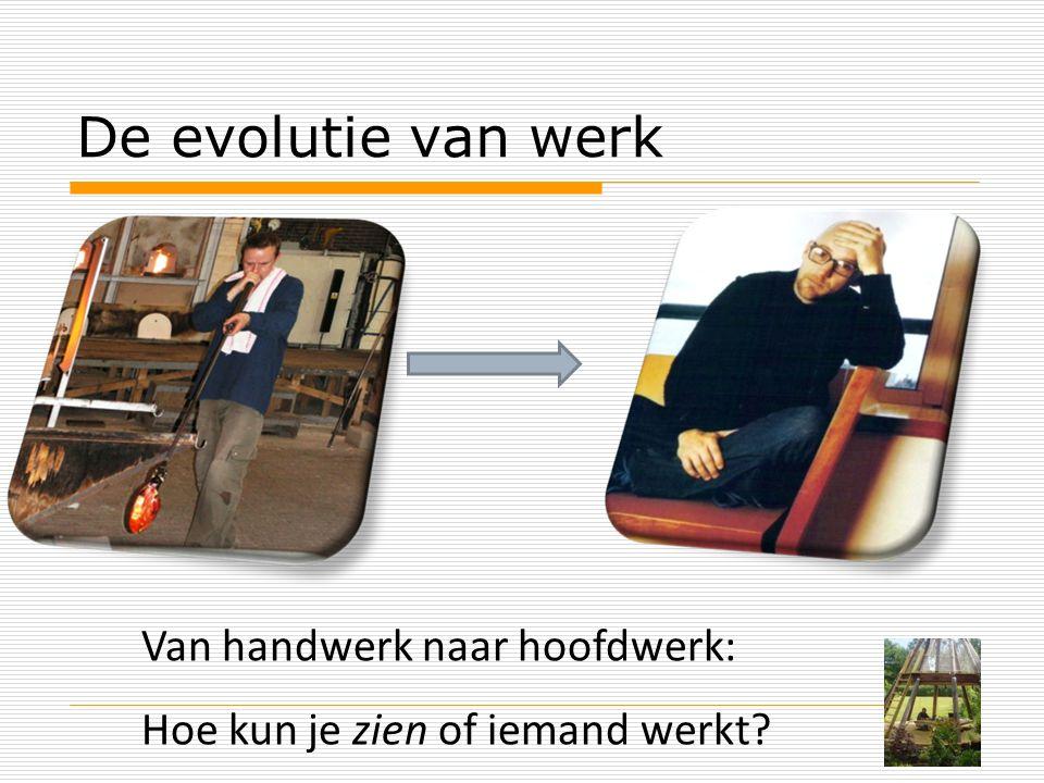 De evolutie van werk Van handwerk naar hoofdwerk: Hoe kun je zien of iemand werkt