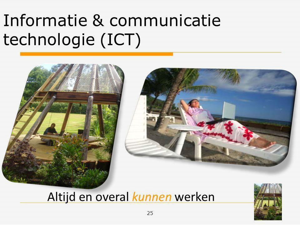 Informatie & communicatie technologie (ICT) 25 Altijd en overal kunnen werken