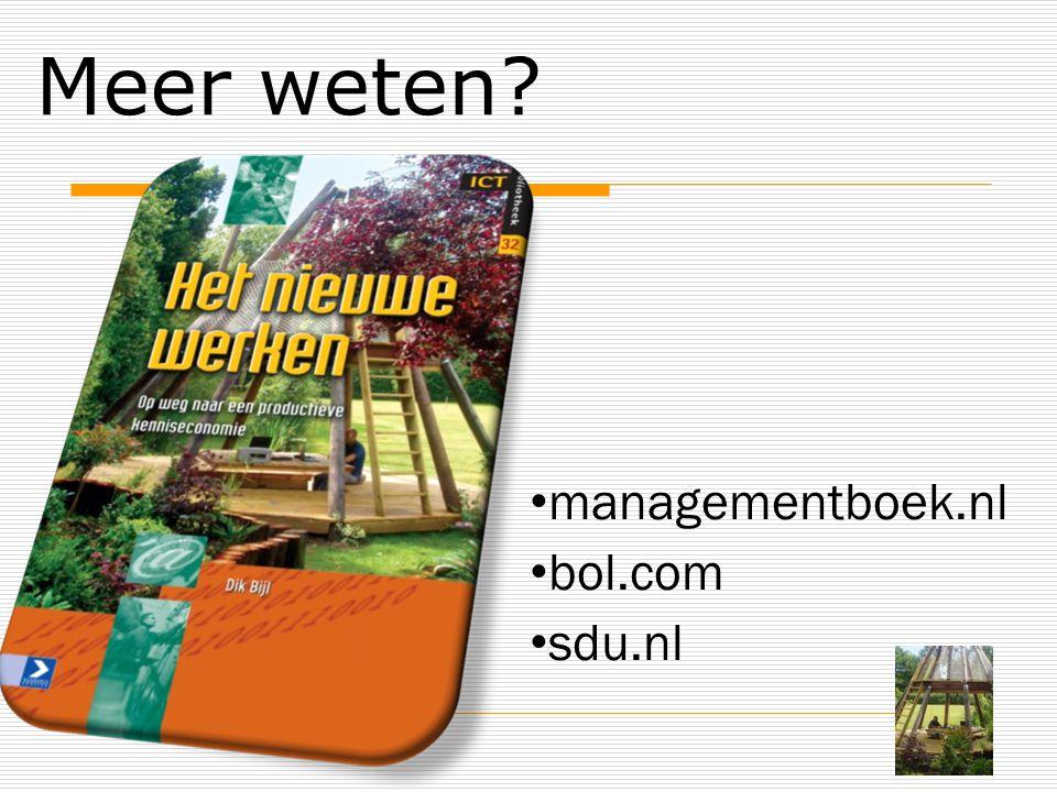Meer weten managementboek.nl bol.com sdu.nl