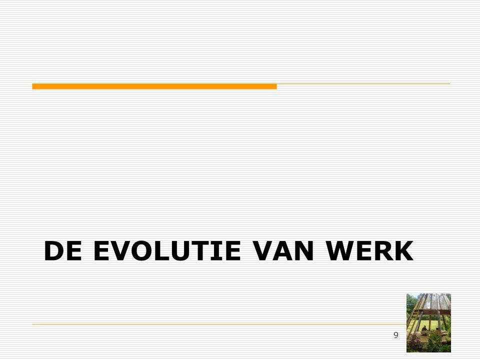 DE EVOLUTIE VAN WERK 9
