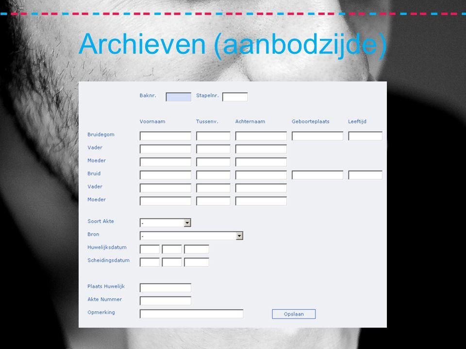 Archieven (aanbodzijde)