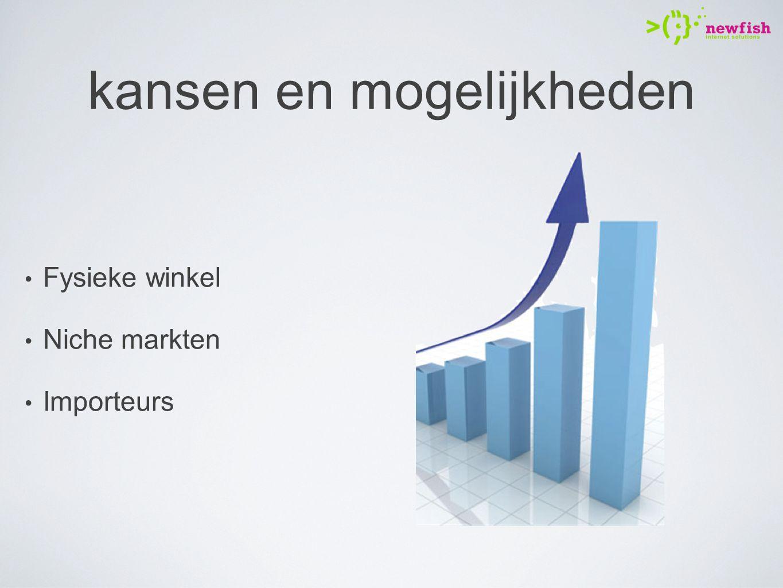 kansen en mogelijkheden Fysieke winkel Niche markten Importeurs