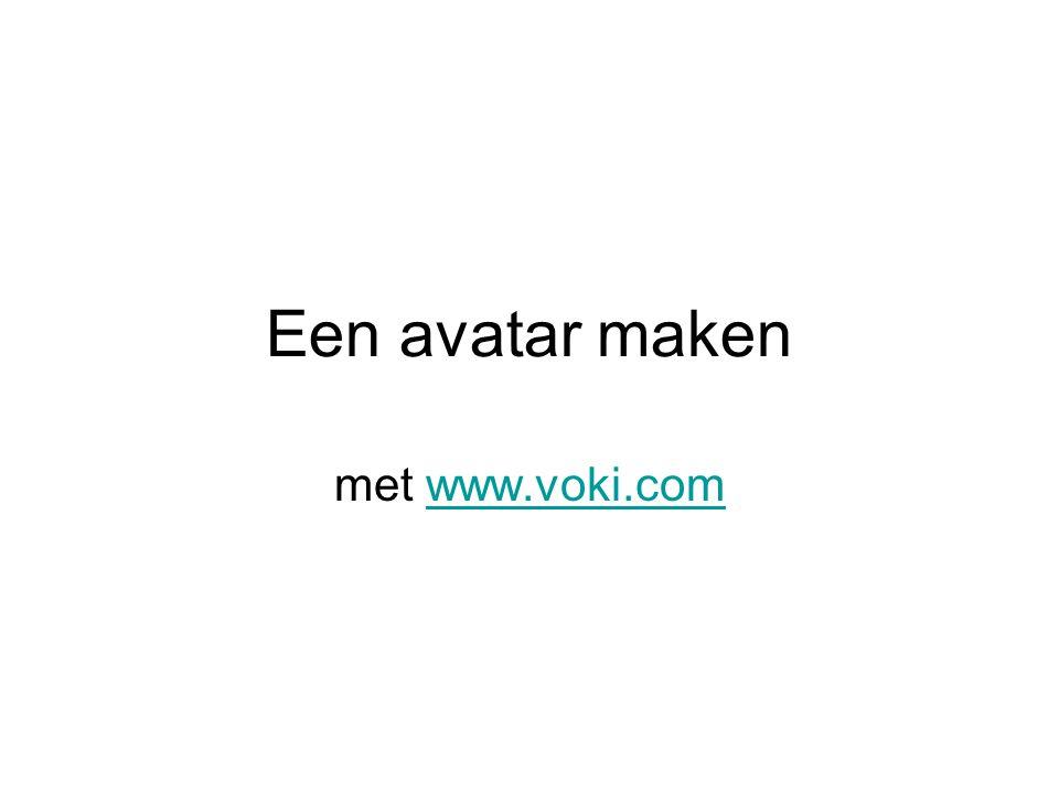 Een avatar maken met www.voki.comwww.voki.com