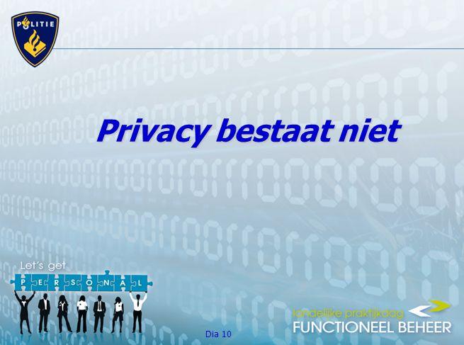 Dia 10 Privacy bestaat niet
