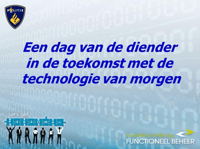 Een dag van de diender in de toekomst met de technologie van morgen