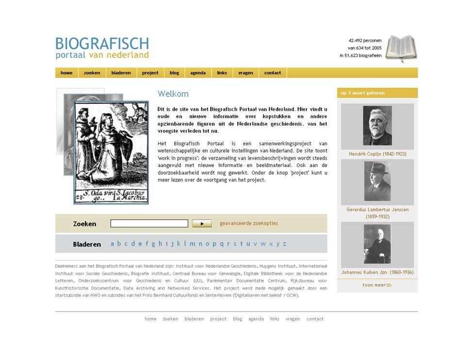 Informatie Uitwisseling BioDes (www.biografischportaal.nl/biodes)www.biografischportaal.nl/biodes Richtlijnen – uniformiteit en houvast Flexibel - variatie