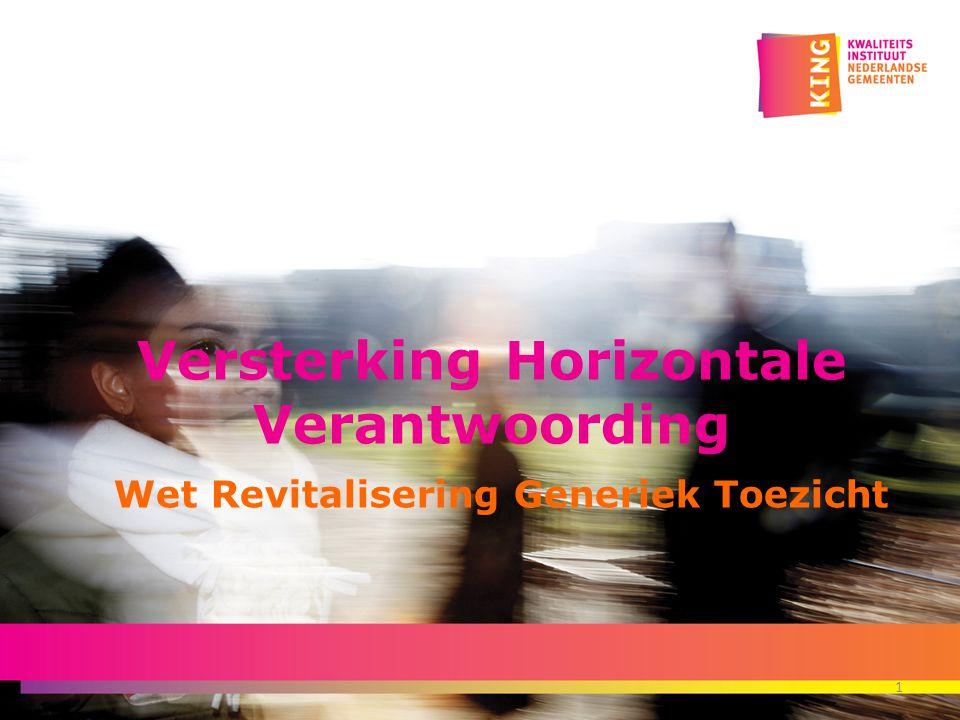 Versterking Horizontale Verantwoording Wet Revitalisering Generiek Toezicht 1