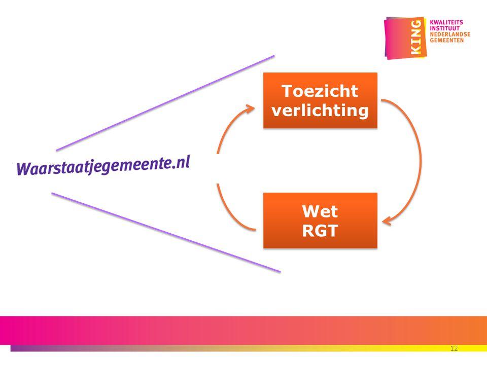 12 Toezicht verlichting Toezicht verlichting Wet RGT Wet RGT