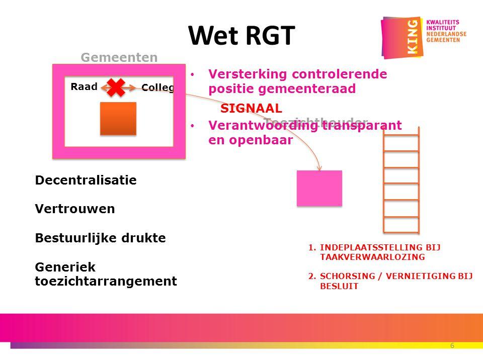 7 Toezicht verlichting Toezicht verlichting Wet RGT Wet RGT