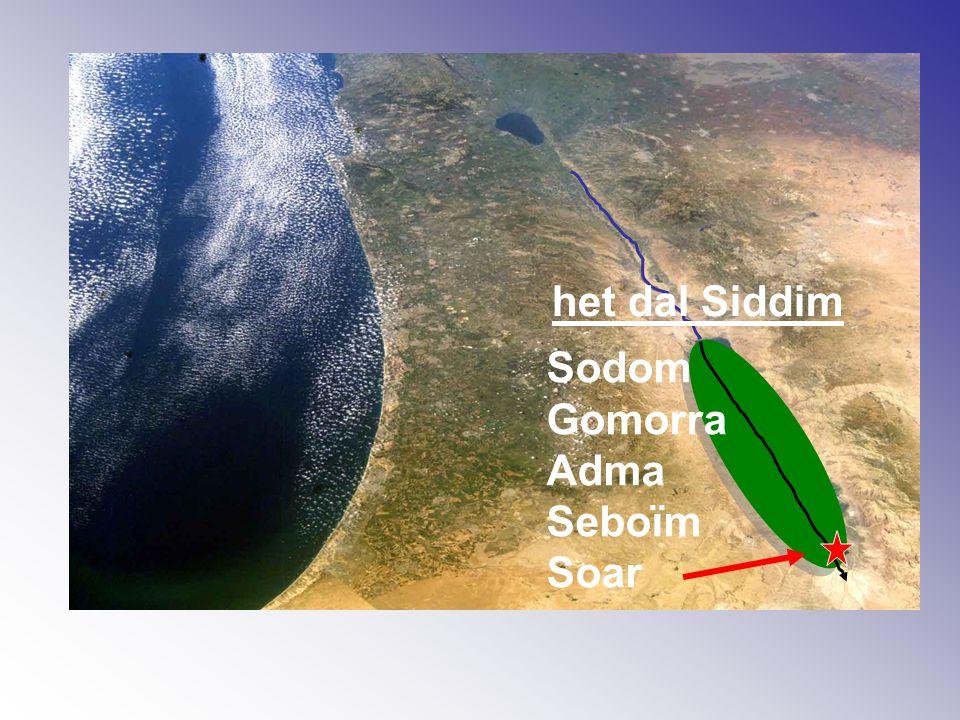 Sodom Gomorra Adma Seboïm Soar het dal Siddim