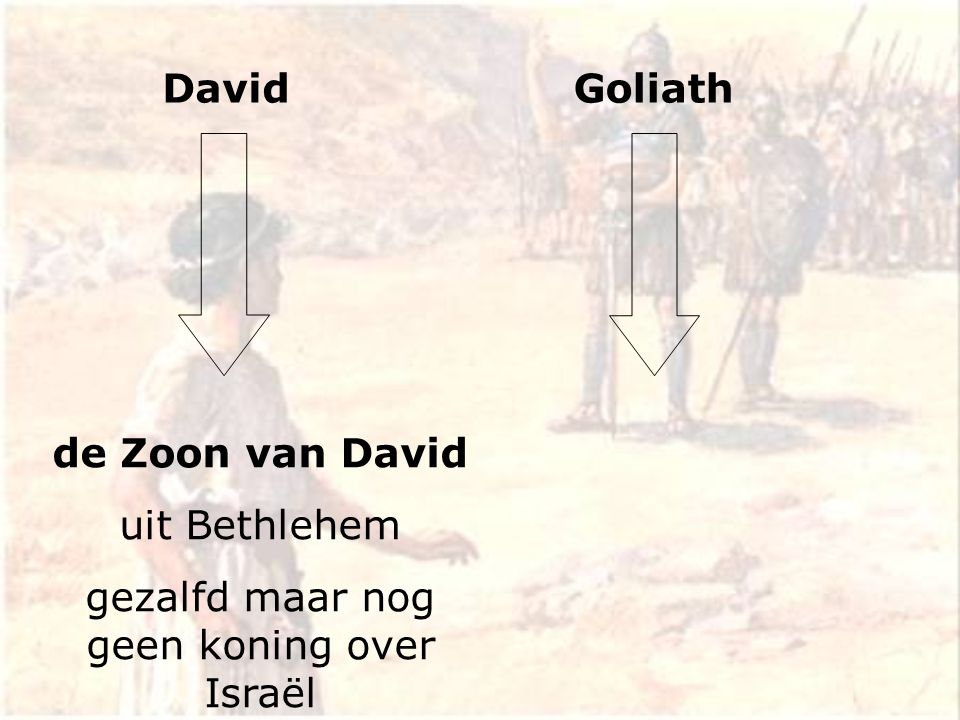 DavidGoliath de Zoon van David uit Bethlehem gezalfd maar nog geen koning over Israël