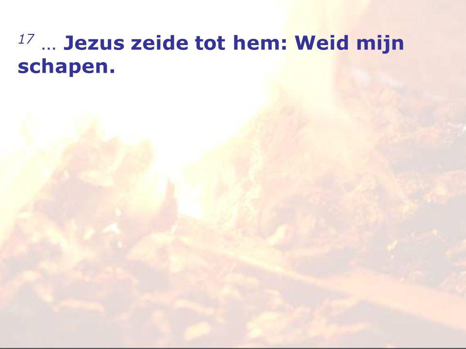 17 … Jezus zeide tot hem: Weid mijn schapen.